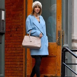 Jackets & Blazers - ASOS light blue coat seen on Taylor swift size 2